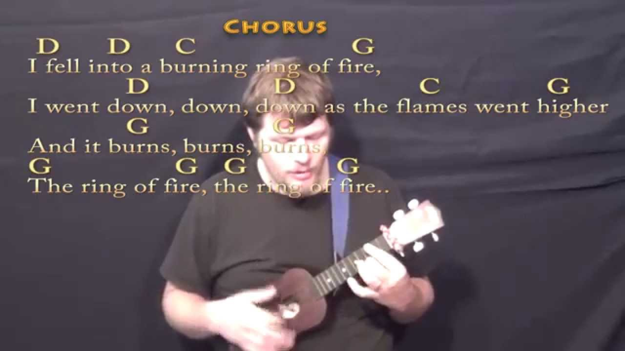 Ring Of Fire Ukulele Cover Lesson With Chordslyrics Youtube