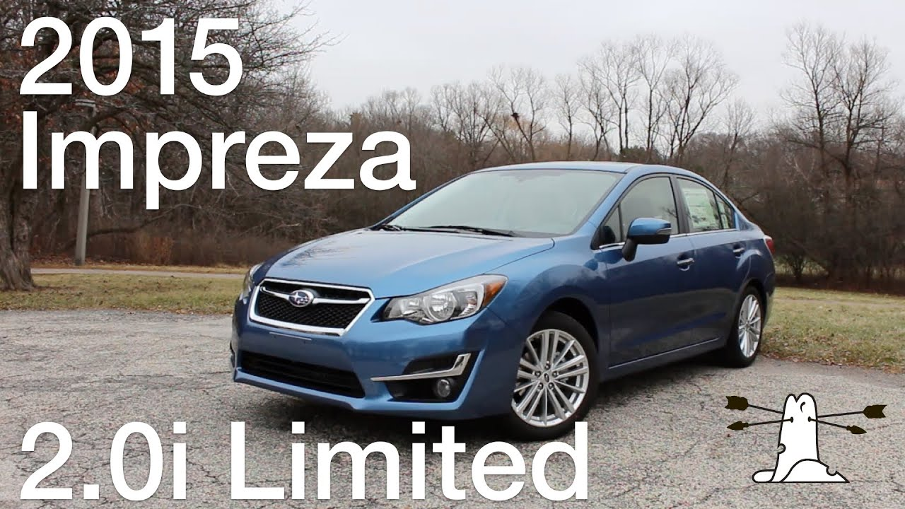driven 2015 subaru impreza limited youtube. Black Bedroom Furniture Sets. Home Design Ideas