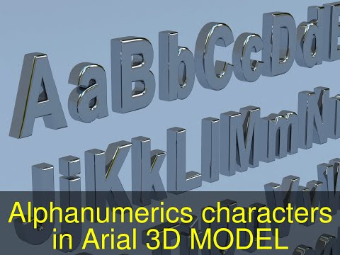3D Model Of Alphanumerics Characters In Arial Format Review