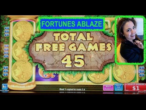 AWESOME WIN - FORTUNE ABLAZE - HIGH LIMIT SLOT MACHINE - FEATURING $20k WINNER - WYNN LAS VEGAS - 동영상