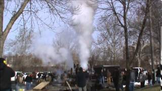 Part 2 of 2 Youngstown Ohio Train Whistle Blow In November 2014