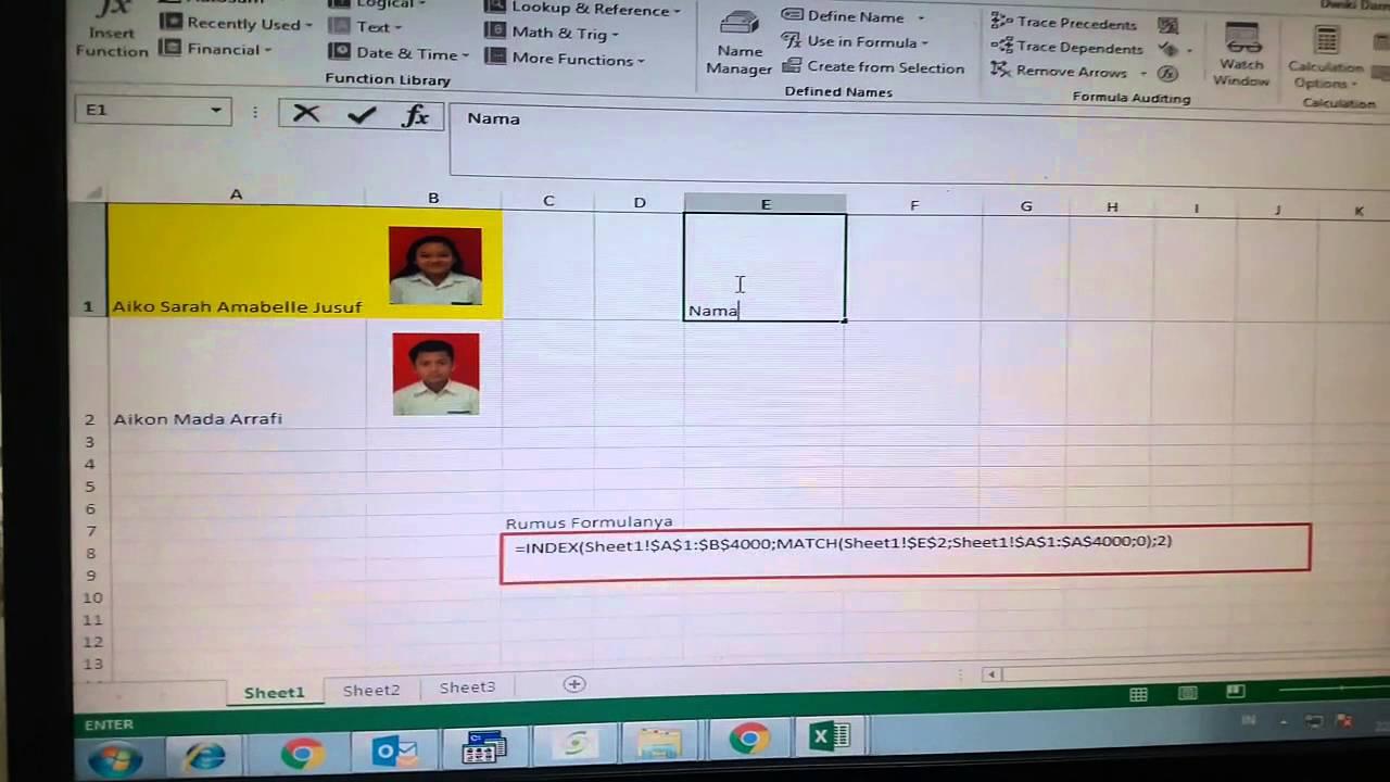 Cara Membuat Otomatis Data Disertai Gambar Dengan Excel ...