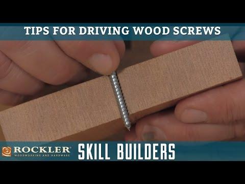 Tips for Driving Wood Screws | Rockler Skill Builders