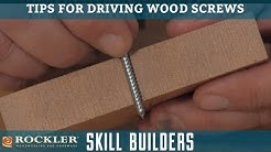 Tips for Driving Wood Screws | Rockler Skill Builders