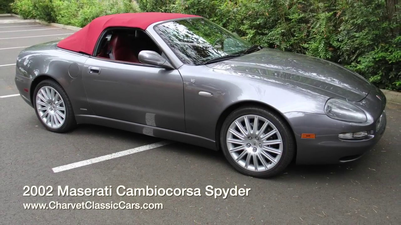 2002 maserati cambiocorsa spyder charvet classic cars. Black Bedroom Furniture Sets. Home Design Ideas