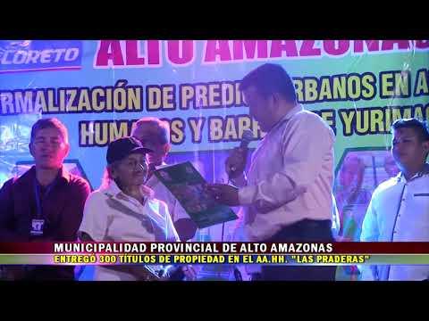 MPAA ENTREGÓ 300 TÍTULOS DE PROPIEDAD EN EL AA.HH.  LAS PRADERAS