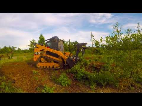 Louisiana Land Solutions CAT 299D2 XHP Mulcher in action in an old cut over