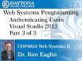 Web Programming - Getting Started In Visual Studio 2012 - Web Forms- Part 3
