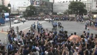 【W杯】日本勝利!その時東京・渋谷では喜び爆発(10/06/25)