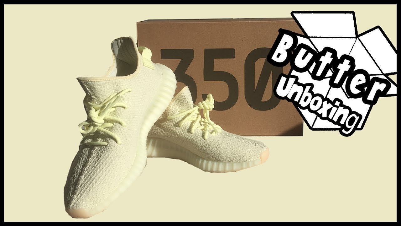 7a3a5c2d5 UNBOXING THE YEEZY BOOST 350 V2 BUTTER + CREAM WHITE COMPARISON ...
