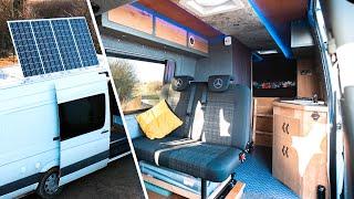 Van Tour / Sprinter Self Build With Tilting Solar Array + Smart Home Features...