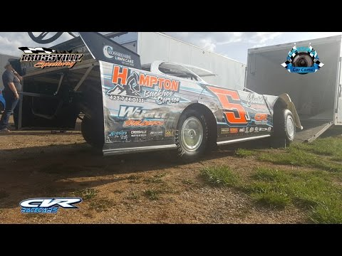 #5J Jesse Lowe - Winner - Crate - 4-14-17 Crossville Speedway - In-Car Camera