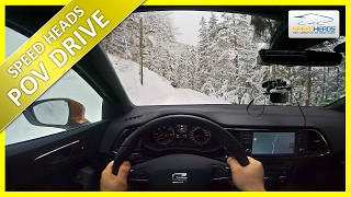 POV Drive - Seat Ateca (190 PS 2.0 TDI 4Drive) Onboard Test Drive on Snow (pure driving)