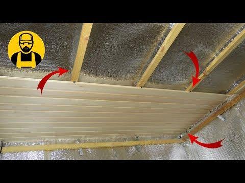 Потолок в бане. Монтаж и утепление потолка