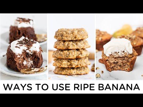 HEALTHY BANANA RECIPES ‣‣ 3 ways to use ripe bananas