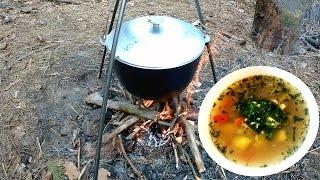 Рецепт Ухи  на костре с саломуром