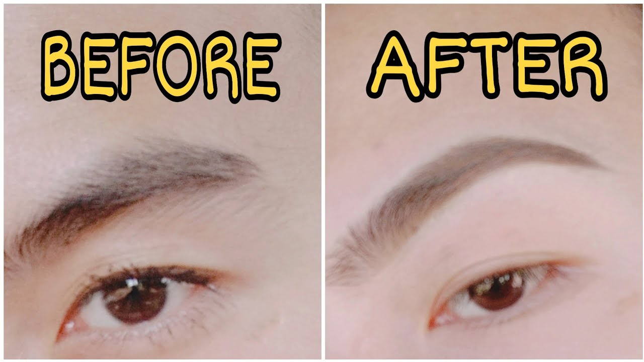 HOW TO SHAVE PERFECT NATURAL EYE BROWS 😍 - YouTube