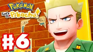 Pokemon Let\'s Go Pikachu and Eevee - Gameplay Walkthrough Part 6 - Gym Leader Lt. Surge!