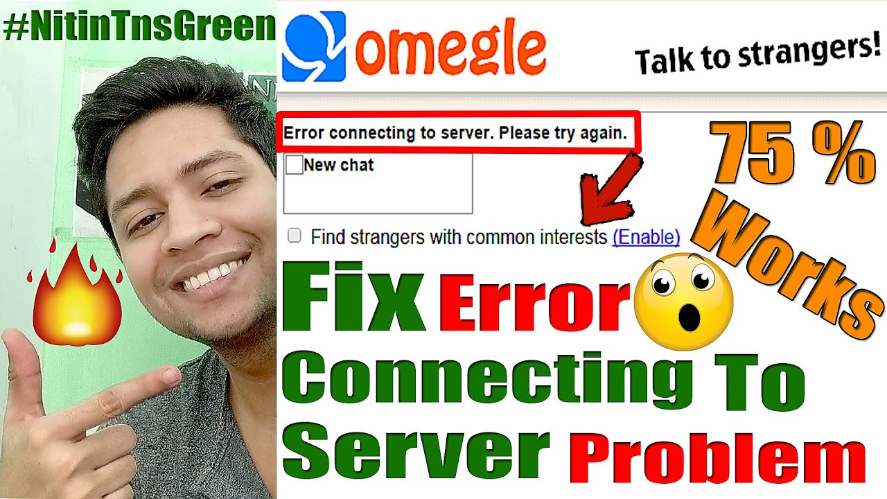 How to fix omegle error connecting to server problem | how to fix omegle  loading problem, 93% work