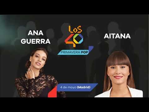 ¡Aitana War confirmadas en LOS40 Primavera Pop Madrid, Barcelona y Málaga!