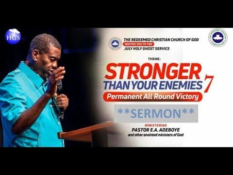 Download PASTOR E.A ADEBOYE SERMON | PERMANENT ALL AROUND VICTORY