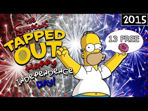 TSTO - Happy Independence Day - 13 Free Donuts! (2015)