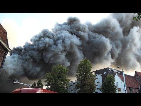 Zeer grote brand in Holland Casino in Groningen
