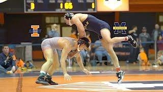 2017 Illinois vs Michigan Wrestling Dual Recap part #2 ( Martinez vs Massa)