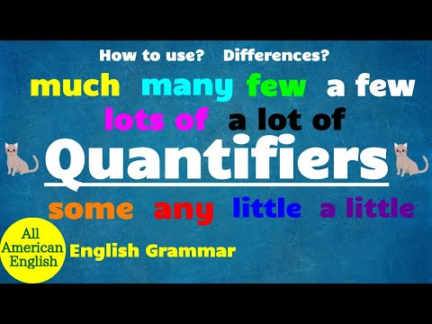 QUANTIFIERS in English | SOME or ANY? MUCH or MANY? | How to use? | Grammar | All American English