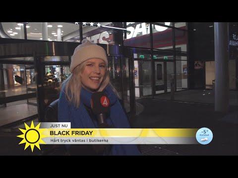 """Svenska Black Friday gick inte som väntat: """"Ska jag sjunga All by myself?"""" - Nyhetsmorgon (TV4)"""