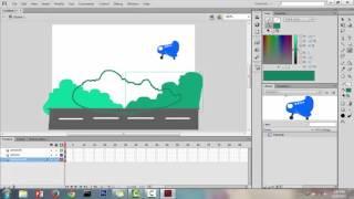 Tutorial Adobe Flash Professional | membuat pesawat terbang