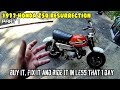 Honda Z50 (1977) Pt 1. Facebook Marketplace motorcycle resurrection. junk to running in a day