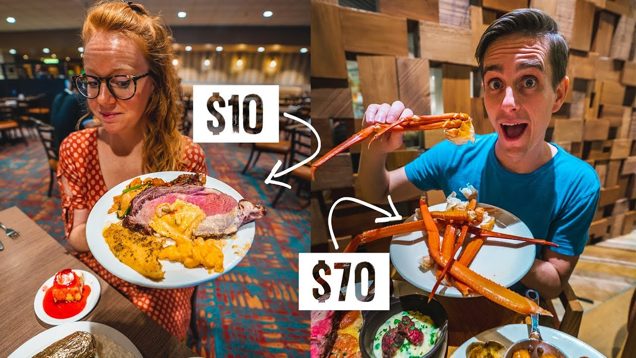 Comparing the CHEAPEST vs MOST EXPENSIVE Las Vegas Buffet ...