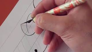 How to Write Copperplate (The Letters B and b)
