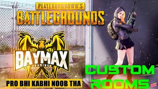 Custom rooms pubg mobile live | pubg mobile live Telugu, English , thoda Hindi | Thanks for 1k subs