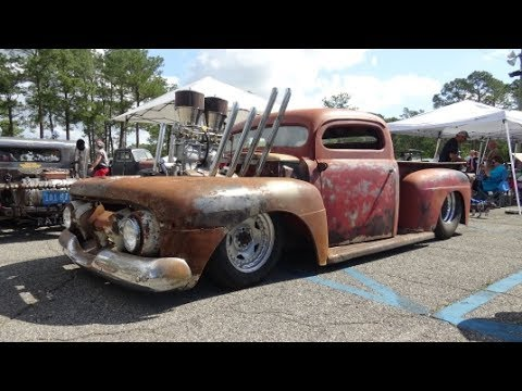 Rat Rod Ford Truck 2017 Atomic Blast Car Show Youtube