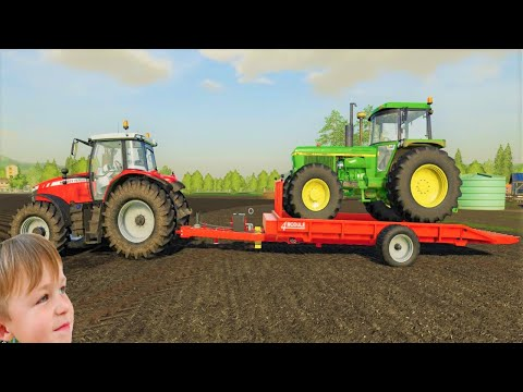 Farming simulator 19 | We got a huge truck and this trailer does it all |