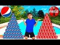 Coke vs pepsi pretend play funny boy goes shopping play stacking game mp3