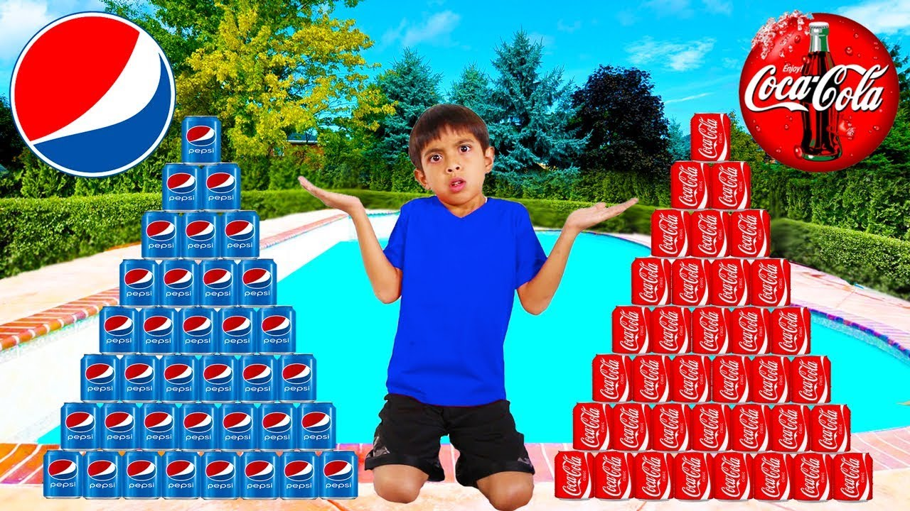 Download Coke vs Pepsi Pretend Play! Funny Boy Goes Shopping & Play Stacking Game
