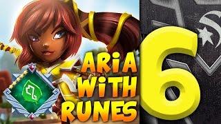 the insane power of aria 6 with runes   dungeon boss w starskream