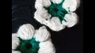 КАК СВЯЗАТЬ МАЛЕНЬКИЙ ЦВЕТОЧЕК КРЮЧКОМ! / Knitted flower crochet