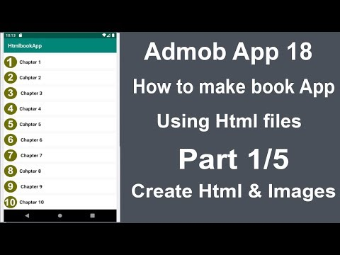 How To Create Html And Images || How To Make Book App Using Html In Android Studio