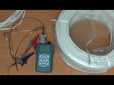 видео: Измерение длины кабеля с известным погонным сопротивлением прибором РЕЙС-50