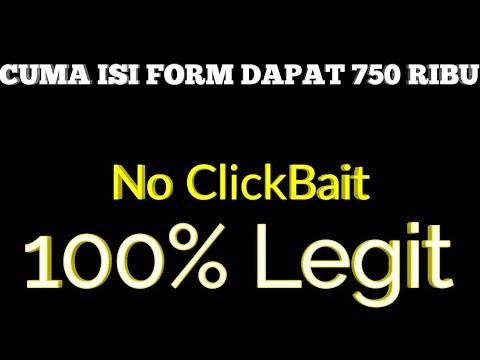 CUMA ISI FORM DAPAT 750 RIBU TANPA REFERAL    Cara Menghasilkan Uang Dari Internet