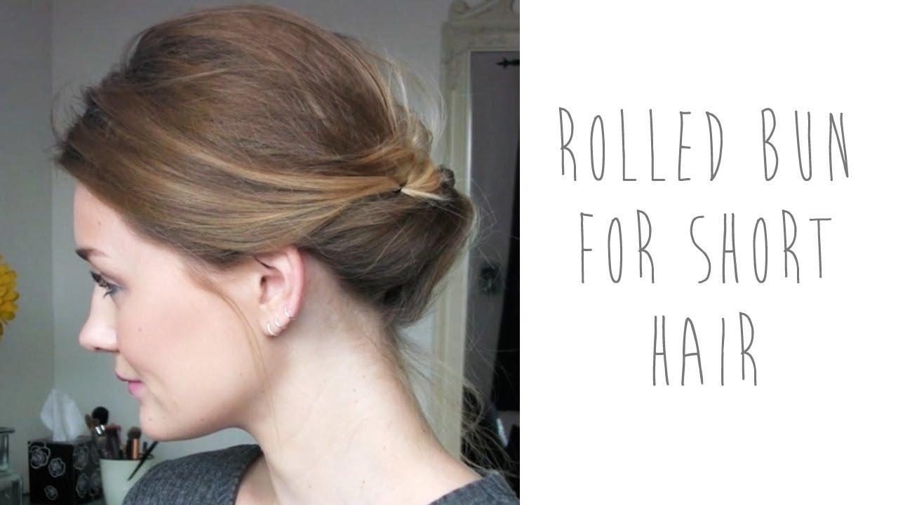 hair tutorial: rolled bun for short hair   tinytwisst