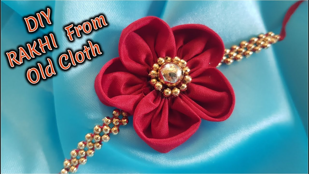Beautiful RAKHI From Old Cloth