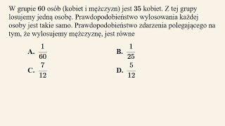 Matura poprawkowa - zadanie 25 - prawdopodobieństwo