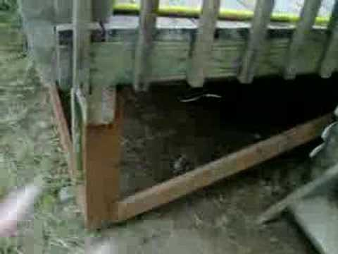 Lattice Frame Under Deck Youtube
