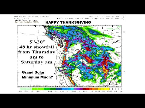 GSM Update 11/22/18 - Frozen Turkey Day - Epic Fall Snow Forecast - Real Cancer vs Fake Cancer