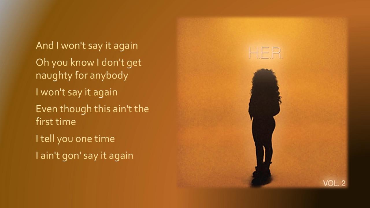 H.E.R. - Say It Again (Lyrics) - YouTube